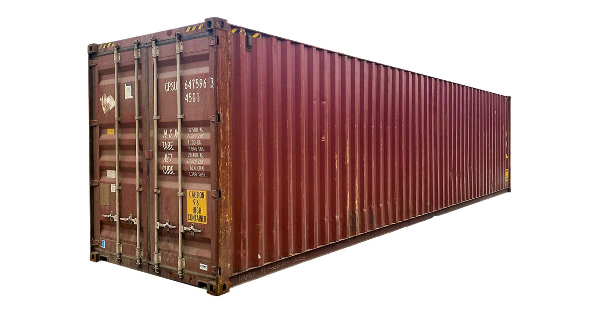 40' High Cube Container - Cargo Worthy