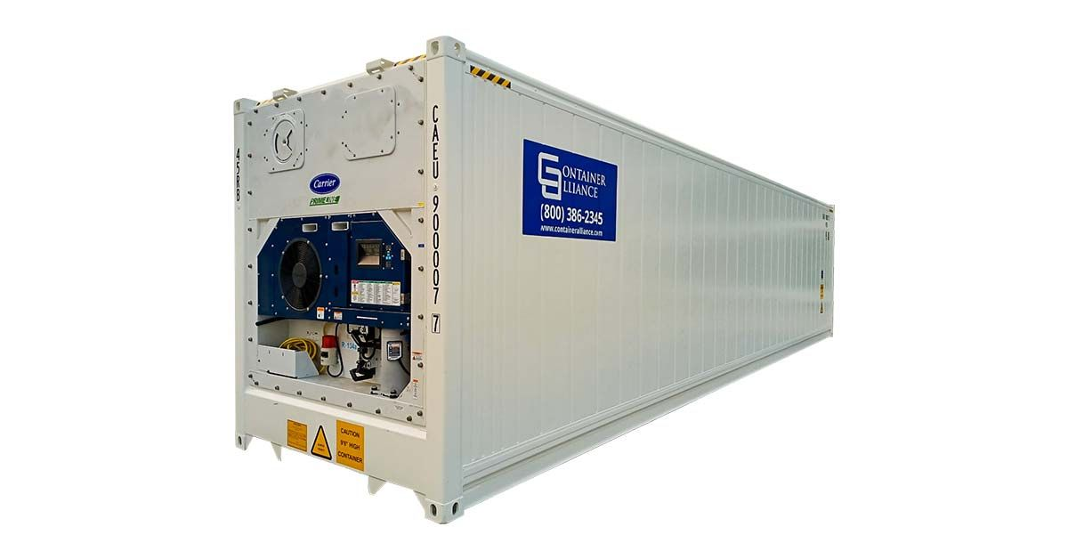 40' High Cube Refrigerated Container - One Trip